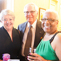 Left to right, Pat Smith, Charlie Smith, and Arlene Holmes pose for a photo during Juice, Jazz & Java Saturday September 6, 2014 at Cape Fear National Golf Course in Leland, N.C. (Jason A. Frizzelle)