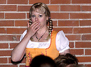 """Tamra Francis during Mayhem & Mystery's production of """"Festival Fracas"""" at the Spaghetti Warehouse in downtown Dayton, Monday, September 27, 2010."""