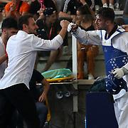 Roma 03/06/2018 Stadio Pietrangeli<br /> World Taekwondo Gran Prix<br /> Uomini -80 Kg<br /> Roberto Botta e Carlo Molfetta