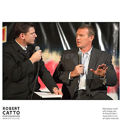Mark Ferguson;John Kirwan at the British & Irish Lions v. Auckland Blues Match at Eden Park, Auckland, New Zealand.<br />
