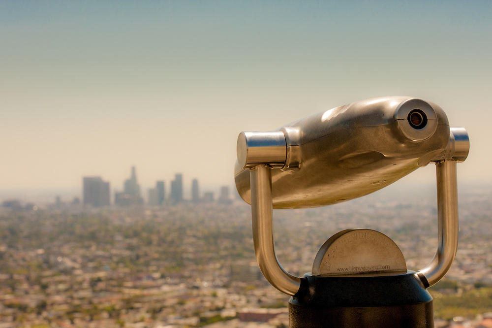 View scope and skyline in Los Angeles, California