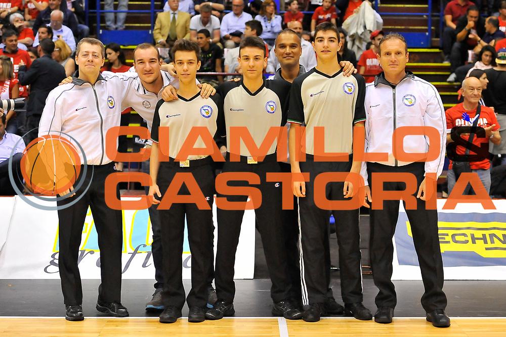 DESCRIZIONE : Campionato 2013/14 Semifinale GARA 2 Olimpia EA7 Emporio Armani Milano - Dinamo Banco di Sardegna Sassari<br /> GIOCATORE : Alessandro Martolini Saverio Lanzarini Dino Seghetti<br /> CATEGORIA : Arbitreo Referee Before<br /> SQUADRA : AIAP<br /> EVENTO : LegaBasket Serie A Beko Playoff 2013/2014<br /> GARA : Olimpia EA7 Emporio Armani Milano - Dinamo Banco di Sardegna Sassari<br /> DATA : 01/06/2014<br /> SPORT : Pallacanestro <br /> AUTORE : Agenzia Ciamillo-Castoria / Luigi Canu<br /> Galleria : LegaBasket Serie A Beko Playoff 2013/2014<br /> Fotonotizia : DESCRIZIONE : Campionato 2013/14 Semifinale GARA 2 Olimpia EA7 Emporio Armani Milano - Dinamo Banco di Sardegna Sassari<br /> Predefinita :