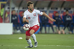 October 14, 2018 - Chorzow, Poland - Bartosz Bereszynski of Poland during the UEFA Nations League A match between Poland and Italy at Silesian Stadium in Chorzow, Poland on October 14, 2018  (Credit Image: © Andrew Surma/NurPhoto via ZUMA Press)