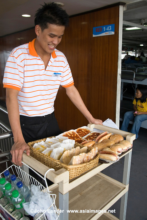 Snack Trolley on Filipino Ferry
