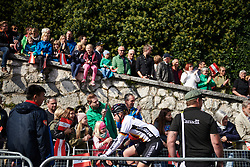Christa Riffel (GER) makes her way to the start line at UCI Road World Championships 2018 - Elite Women's Road Race, a 156.2 km road race in Innsbruck, Austria on September 29, 2018. Photo by Sean Robinson/velofocus.com