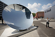 "Art 38 Basel. Art in Public Space. ""Sky Mirror V"", 2004-2007 by Anish Kapoor. Lisson Gallery, London."