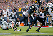 WEST LAFAYETTE, IN - SEPTEMBER 15: Rondale Moore #4 of the Purdue Boilermakers runs the ball after a catch during the game against the Missouri Tigers at Ross-Ade Stadium on September 15, 2018 in West Lafayette, Indiana. (Photo by Michael Hickey/Getty Images) *** Local Caption *** Rondale Moore NCAA Football - Purdue Boilermakers vs Missouri Tigers at Ross-Ade Stadium in West Lafayette, Indiana. Sports photographer by Michael Hickey