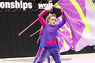 Identity of San Marcos, Texas performs during the Open Class Finals of the 35th WGI Color Guard World Championships at UD Arena in Dayton, Saturday, April 14, 2012.