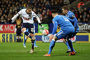 Wellington Silva strikes during the The FA Cup Third Round Replay match between Bolton Wanderers and Eastleigh at the Macron Stadium, Bolton, England on 19 January 2016. Photo by Pete Burns.