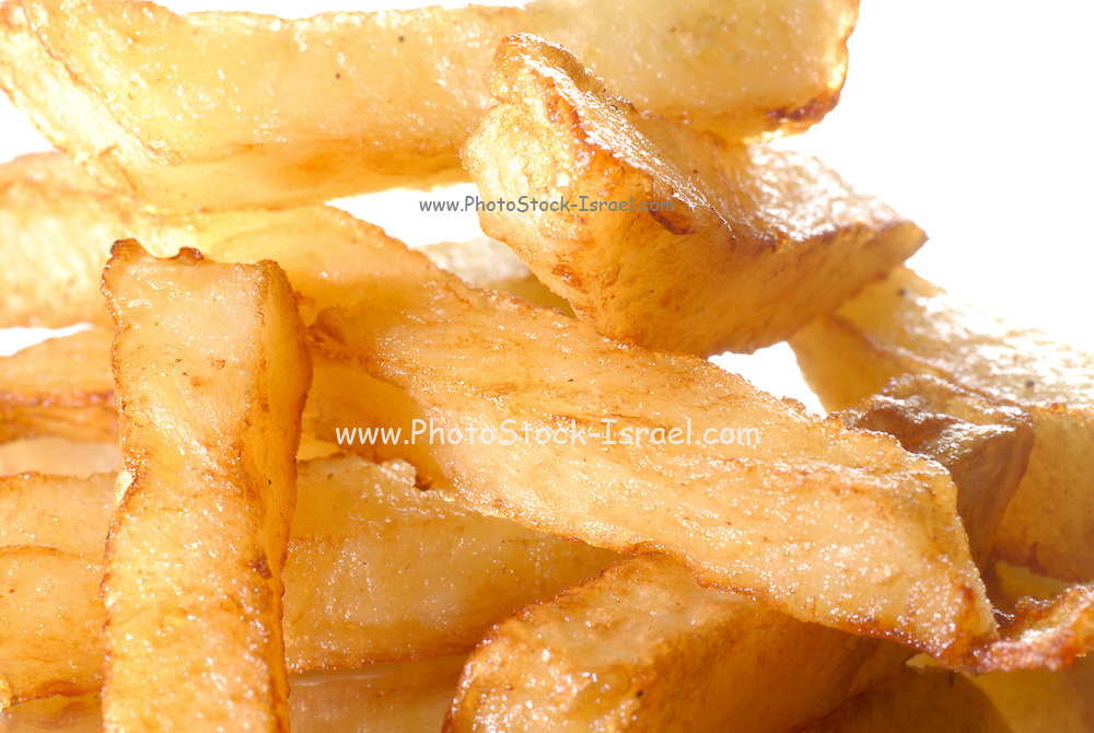 a stack of French Fries - close up