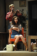 "Oxford High student Madison Barker as Mariane (sitting) and Eloise Tyner as Dorine rehearse for the play ""Tartuffe"" in Oxford, Miss. on Wednesday, April 17, 2013."