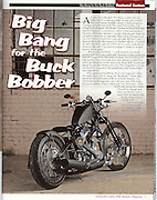 James Pratt photographed the cover of Barnett's Magazine for a story on Darwin Motorcycles Model 1 Bobber.  Story includes a 3 page spread inside the magazine.