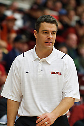 November 18, 2010; Stanford, CA, USA;  Virginia Cavaliers head coach Tony Bennett on the sidelines during the second half against the Stanford Cardinal at Maples Pavilion.  Stanford defeated Virginia 81-60.