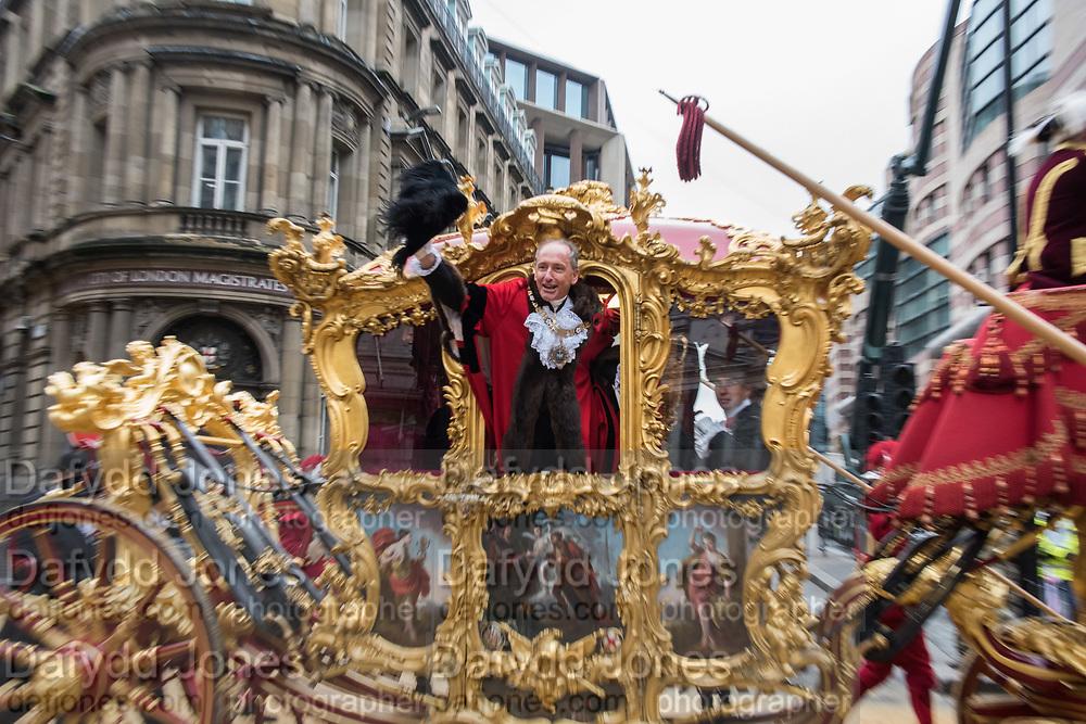 Charles Bowman, Lord Mayor of the City of London,, Lord Mayor's show London. 11 November 2017.