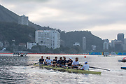 "Rio de Janeiro. BRAZIL.  GBR M+, boating for training session.  2016 Olympic Rowing Regatta. Lagoa Stadium,<br /> Copacabana,  ""Olympic Summer Games""<br /> Rodrigo de Freitas Lagoon, Lagoa.   Tuesday  09/08/2016 <br /> <br /> [Mandatory Credit; Peter SPURRIER/Intersport Images]"
