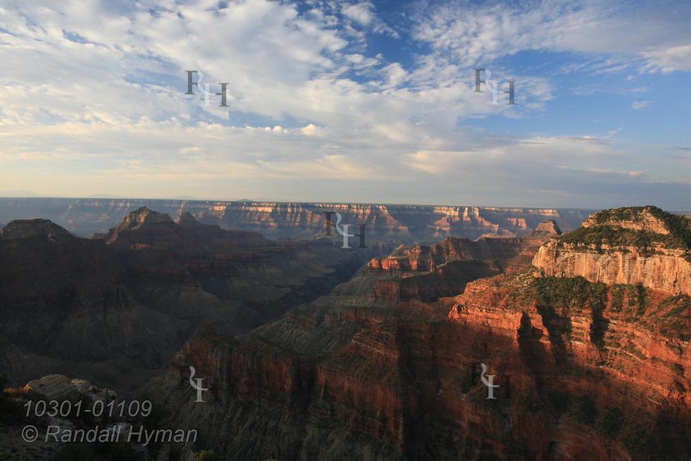 September sunrise at Bright Angel Point, North Rim, Grand Canyon National Park, Arizona.