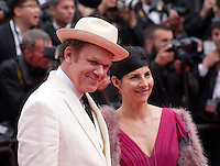 Actor John C. Reilly and producer Alison Dickey at the Closing ceremony and premiere of La Glace Et Le Ciel at the 68th Cannes Film Festival, Sunday 24th May 2015, Cannes, France.