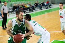 Dalibor Dzapa of Krka during basketball match between KK Petrol Olimpija and KK Krka in Round #6 of Liga Nova KBM za prvaka 2018/19, on April 5, 2019, in Arena Stozice, Ljubljana, Slovenia. Photo by Vid Ponikvar / Sportida