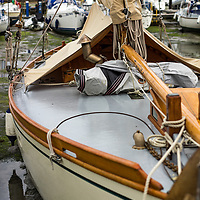 Sailing boat moored in Emsworth harbour