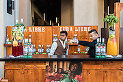 DUBAI, UAE - DECEMBER 18, 2015: Alcoholic beverages are being prepared at the Arboretum restaurant, located in Jumeirah Al Qasr, Madinat Jumeirah Resort.