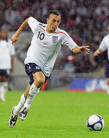 England U'21's vs Portugal U'21's European U'21 championship qualifying Group Three 27/08/08  Photo Nicky Hayes/Fotosports International<br /> Mark Noble in action.