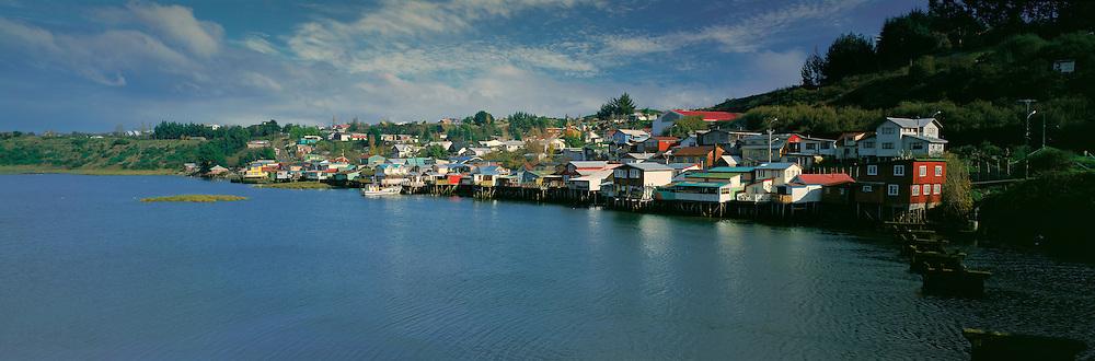 Palafito Houses , Castro , Chiloe , Lake District , Chile