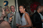 CHARLES SAUMERAZ-SMITH; PRINCESS ALIA AL-SENUSSI; , Soho. Lexington St. and afterwards at La Bodega Negra. Old Compton St. 23 May 2012.