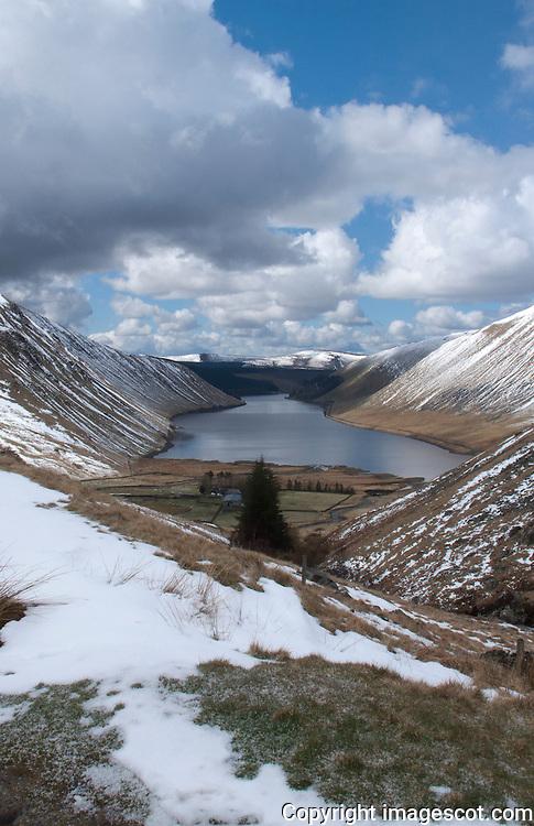 Spring snow, Scottish Borders