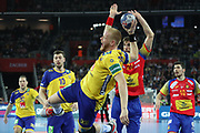 Jim Gottfridsson (Sweden) during the EHF 2018 Men's European Championship, Final Handball match between Spain and Sweden on January 28, 2018 at the Arena in Zagreb, Croatia - Photo Laurent Lairys / ProSportsImages / DPPI