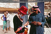 Man and woman at Middle East Tek, Wadi Rum, Jordan, 2008