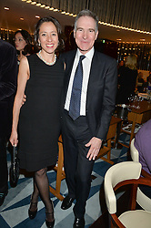 MARK JOHNSON co-founder of Borne and his wife MEEKAI at a dinner hosted by AA Gill & Nicola Formby in support of the Borne charity held at Rivea at the Bulgari Hotel, Knightsbridge, London on 3rd February 2015.