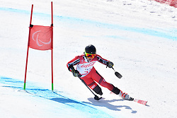 LUSCOMBE Braydon LW2 CAN competing in ParaSkiAlpin, Para Alpine Skiing, Super G at PyeongChang2018 Winter Paralympic Games, South Korea.