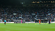 Players from Newcastle United and AFC Bournemouth observe a minute of silence for Remembrance Day ahead of the Premier League match between Newcastle United and Bournemouth at St. James's Park, Newcastle, England on 9 November 2019.