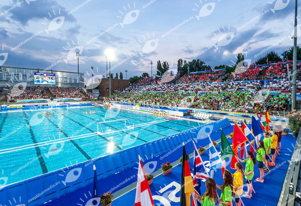 Opening Ceremony<br /> LEN European Water Polo Championships 2014<br /> Alfred Hajos -Tamas Szechy Swimming Complex<br /> Margitsziget - Margaret Island<br /> Day01 - July 14 <br /> Photo Giorgio Scala/Inside/Deepbluemedia