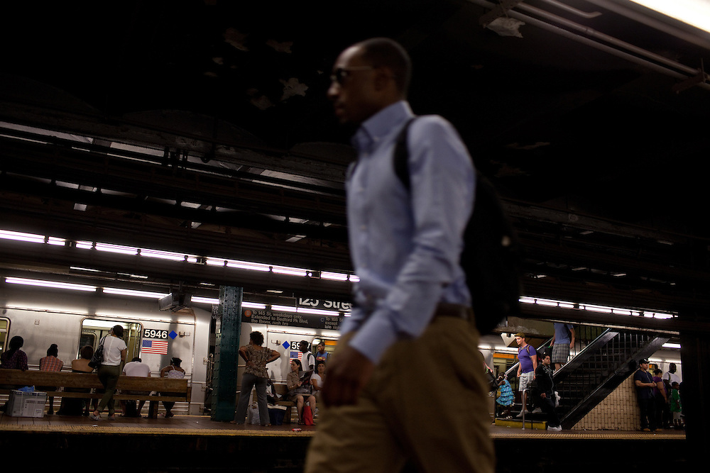 The 125th Street subway stop in Harlem, New York on June 23, 2012.