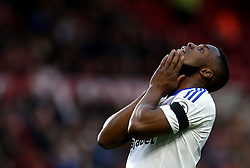 Victor Anichebe of Sunderland looks frustrated after missing a chance to score a goal - Mandatory by-line: Robbie Stephenson/JMP - 26/04/2017 - FOOTBALL - Riverside Stadium - Middlesbrough, England - Middlesbrough v Sunderland - Premier League
