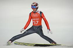 06-02-2014 SCHANSSPRINGEN: OLYMPIC GAMES: SOTSJI<br /> Training Schansspringen op het Russki Gorki Jumping Center / Taku Takeuchi JAP<br /> ©2014-FotoHoogendoorn.nl<br />  / Sportida