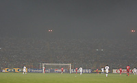 Photo: Steve Bond/Richard Lane Photography.<br />Sudan v Zambia. Africa Cup of Nations. 22/01/2008. The Baba Yarga Stadium in Kumasi becomes smoke filled from surrounding local fires during the game