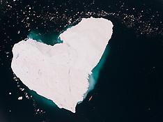 Antarctica - Lewis Pugh Swims Past Heart Shaped Iceberg - 14 Dec 2016