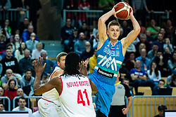 Luka Rupnik of Slovenia during basketball match between National teams of Slovenia and Austria in 2nd Round of the 2021 EuroBasket Qualifiers, on February 23, 2020 in Arena Bonifika, Koper / Capodistria, Slovenia. Photo By Grega Valancic / Sportida