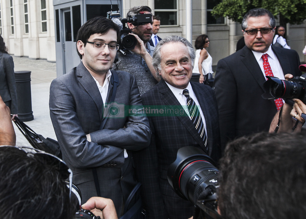 August 3, 2017 - Brooklyn, New York, U.S. - 'Pharma Bro' Martin Shkreli, 34, leaves court after a jury fails to reach a verdict where faces up to 20 years in prison on security fraud charges at Brooklyn Federal Court. (Credit Image: © Byron Smith via ZUMA Wire)