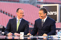 December 2008: Pictures from the NFL Total Access set in Various cities for the 2008 NFL Network Season. Rich Eisen and Steve Mariucci.