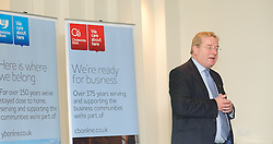 Pictured is guest speaker John Giles, divisional director and Promar International speaking to guests at the event which formed part of Clydesdale and Yorkshire Bank's business week<br /> <br /> Clydesdale and Yorkshire Bank food and the world dinner held at Lincoln Hotel as part of the bank's business week.  Promar International divisional director John Giles was the guest speaker at the event.<br /> <br /> Date: November 12, 2015<br /> Picture: Chris Vaughan/Chris Vaughan Photography