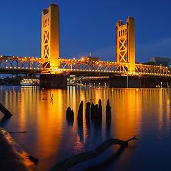Tower Bridge in Sacramento, California
