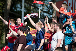 NEWTOWN, WALES - Sunday, May 6, 2018: Connahs Quay Nomad Supporters during the FAW Welsh Cup Final between Aberystwyth Town and Connahs Quay Nomads at Latham Park. (Pic by Paul Greenwood/Propaganda)