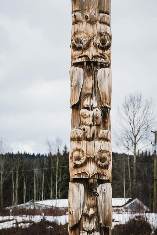 The totems of Kispiox, BC.