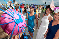 29/07/2013    Milliner Michael Mullins Hats  at the first evening of the Galway Races. Picture :  Andrew Downes
