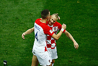 Ivan Perisic (Croatia) and Domagoj Vida (Croatia) celebrate after 1-1<br /> Moscow 15-07-2018 Football FIFA World Cup Russia  2018 Final / Finale <br /> France - Croatia / Francia - Croazia <br /> Foto Matteo Ciambelli/Insidefoto