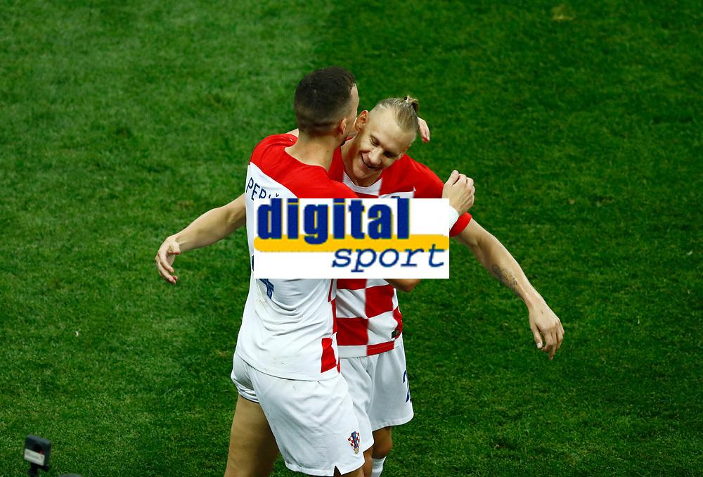 Ivan Perisic (Croatia) and Domagoj Vida (Croatia) celebrate after 1-1<br /> Moscow 15-07-2018 Football FIFA World Cup Russia  2018 Final / Finale <br /> France - Croatia / Francia - Croazia <br /> Foto Matteo Ciambelli/Insidefoto