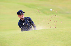 USA's Zach Johnson chips out of a bunker on the 4th during day one of The Open Championship 2017 at Royal Birkdale Golf Club, Southport. PRESS ASSOCIATION Photo. Picture date: Thursday July 20, 2017. See PA story GOLF Open. Photo credit should read: Peter Byrne/PA Wire. RESTRICTIONS: Editorial use only. No commercial use. Still image use only. The Open Championship logo and clear link to The Open website (TheOpen.com) to be included on website publishing. Call +44 (0)1158 447447 for further information.